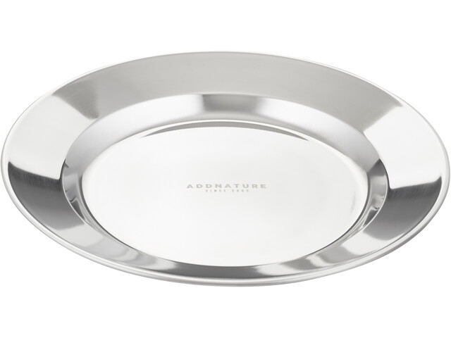 addnature Plate Stainless Steel 24cm silver